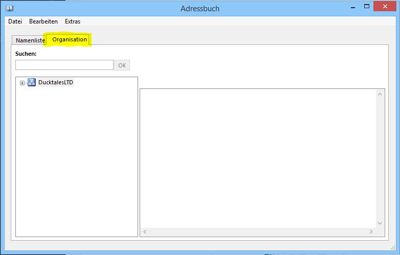 Outlook 2013 Hierarchisches Adressbuch Stamm